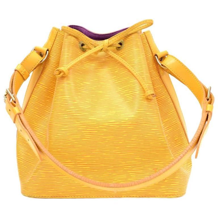Vintage Louis Vuitton Petit Noe Yellow Epi Leather Shoulder Bag 1