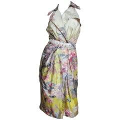 Jean Paul Gaultier Dragonfly Silk Wrap Dress