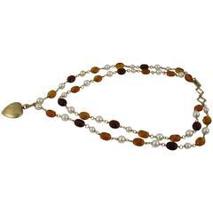 Nice Yves Saint Laurent Double Necklace
