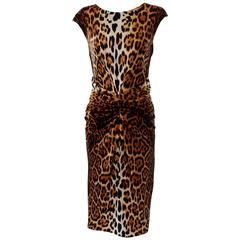 Christian Dior Leopard Cocktail Dress