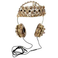 Dolce & Gabbana Gold Crown Headphones Seen On Rita Ora X Rihanna SOLD OUT In 24h