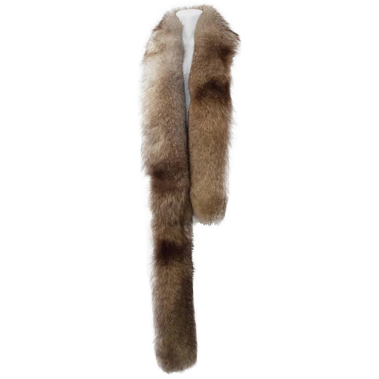 60s Natural Fox Long Boa