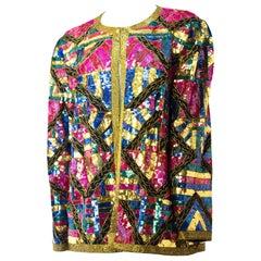 80s Multi Color Sequin Jacket