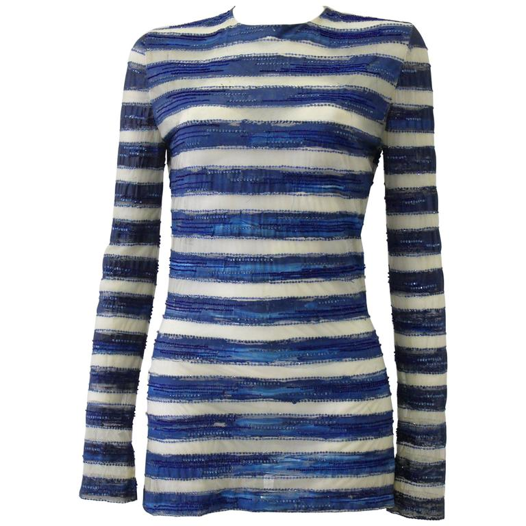 Very Rare Atelier Versace Hand Painted Tunic Mini Dress Spring 1993 For Sale