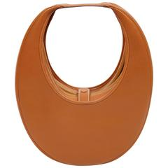 very rare 1989 HERMES courchevel leather circular 'Folies' bag
