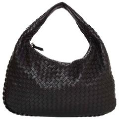 Bottega Veneta Black Intrecciato Leather Medium Hobo RT. $2,200