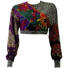 Gianni Versace Cropped Silk Jacket Spring 1987