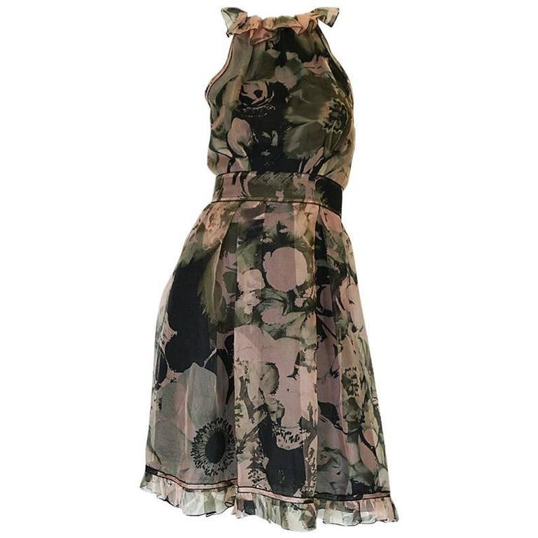 2008 Dolce & Gabbana D&G Silk Organza Halter Dress 1