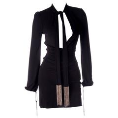 Tom Ford for Gucci Plunging Keyhole Neckline Dress