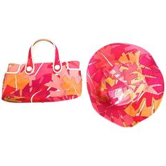Emilio Pucci Hat and Matching Handbag