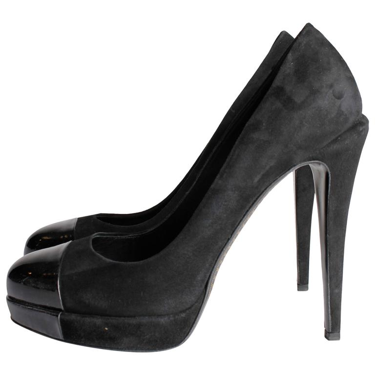 Chanel Pumps - black suede/patent leather