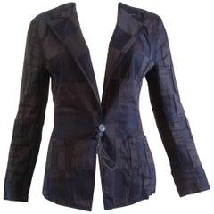 Fall 2005 Runway Dries Van Noten Linen/Silk Tuxedo Jacket