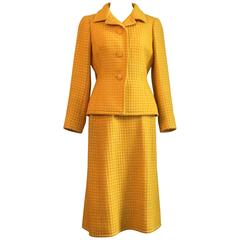 1960s Yellow Givenchy Two Piece Suit
