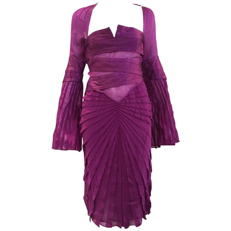 Gucci by Tom Ford purple silk dress
