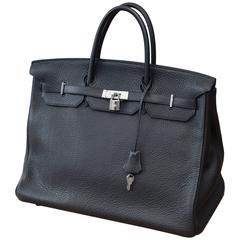 Hermes Birkin 40cm Togo Black Leather Bag