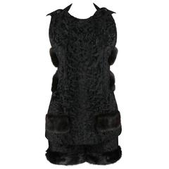 Couture BLUMS CHICAGO 1930s 1940s Persian Lamb Mink Fur Top Shorts Outfit OOAK