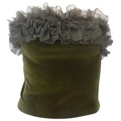 1990s Daniela Bizzi green corset