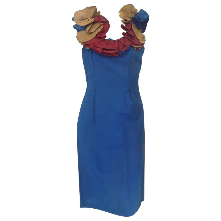 1980 Chiara Boni blu dress