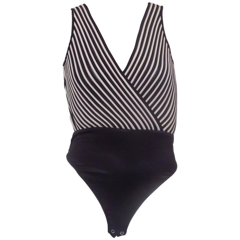 Valentino Night Black and White body top
