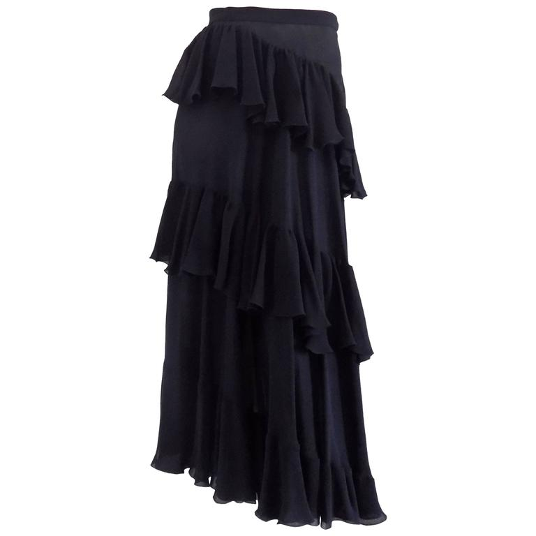 Valentino Rare Black Skirt
