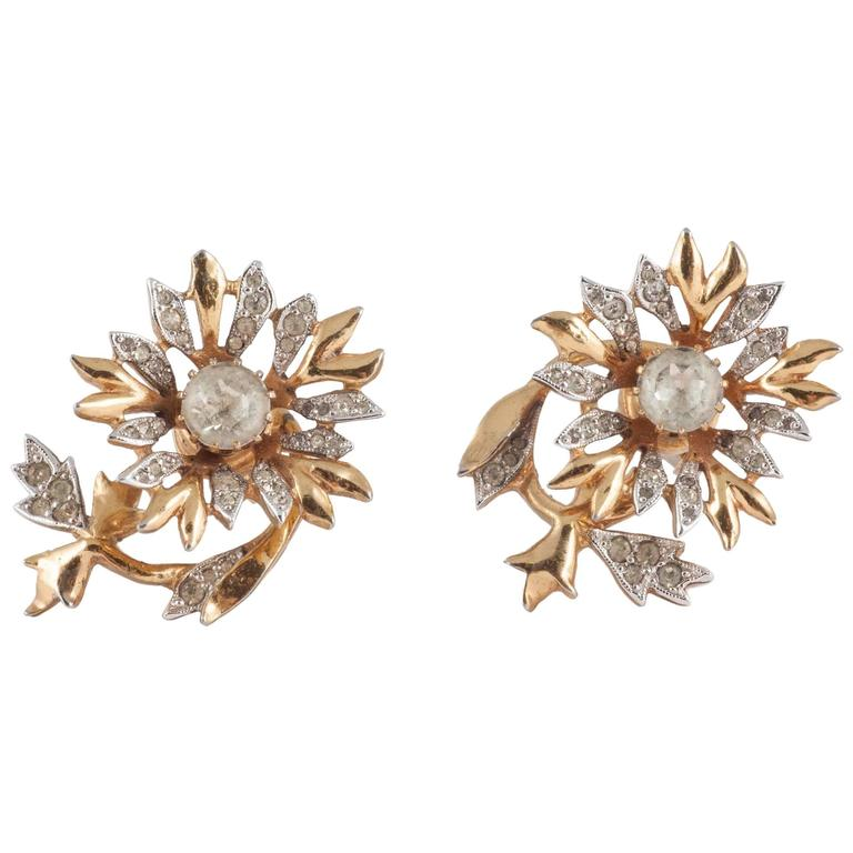 Rare Christian Dior 'en tremblant' earrings, 1950s 1