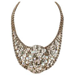 Handsome and sophisticated rhinestone collar, 1950s