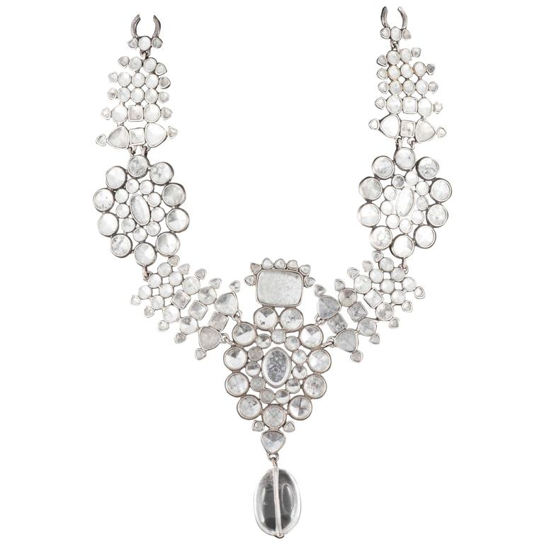 Majestic Moghul style necklace and matching drop earrings, Tom Ford for YSL 1