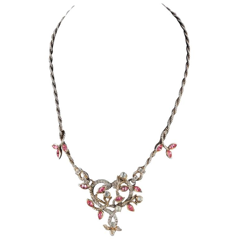 """Christian Dior by Mitchel Maer """"Entwined Heart"""" necklace and earrings  1"""