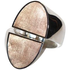 """Hermes Cuff """"Chaine d'Ancre Initiale"""" - Pink Gold and Silver - Limited Edition"""