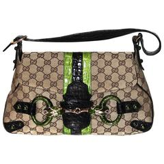 GUCCI by Tom Ford Limited Edition Monogram Jewelled Snake Head Shoulder Bag