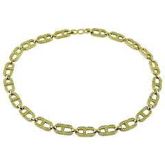 Christian Dior Vintage Signature Logo Diamante Necklace