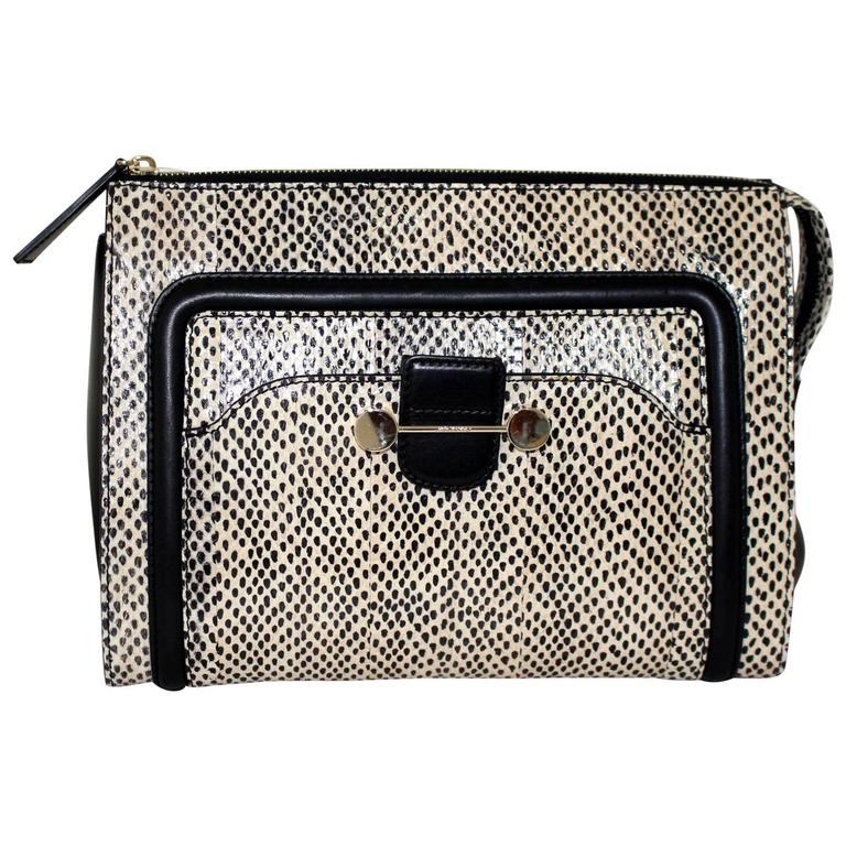Jason Wu Daphne Water Snake Clutch with Black Leather 1
