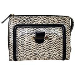 Jason Wu Daphne Water Snake Clutch with Black Leather