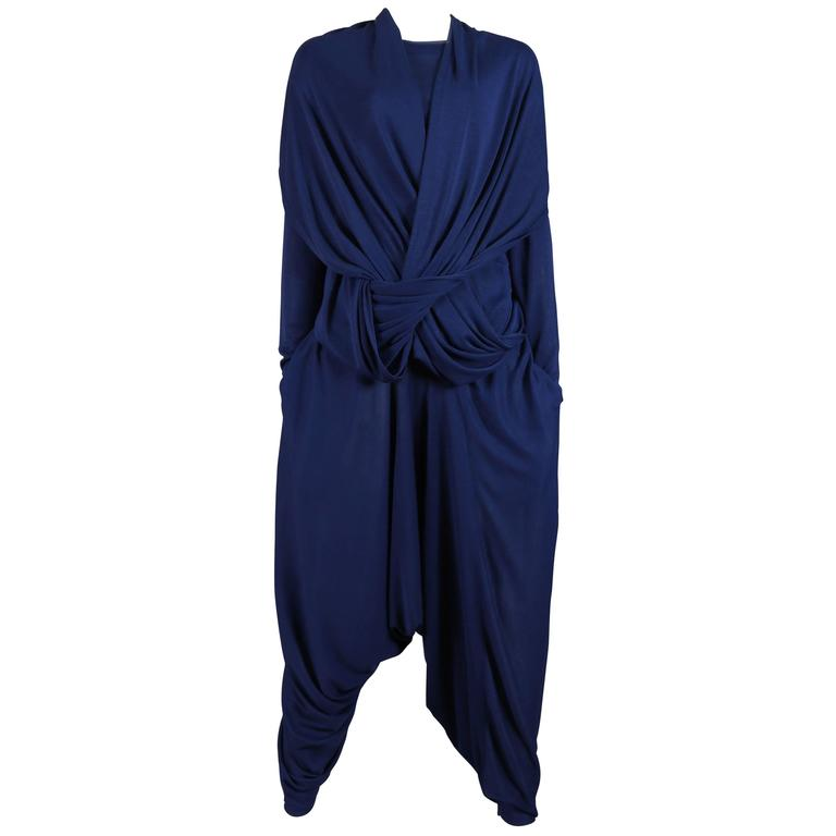 Issey Miyake knitted 2 piece pant suit, circa 1980s