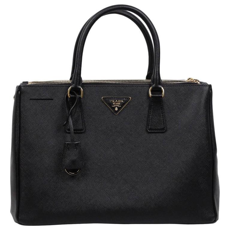 4125ddfb4fbf Prada Saffiano Tote Sale. Prada Small Saffiano Lux Double Zip Orange Tote  Bag ...