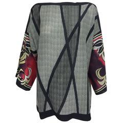 Escada printed silk tunic top 44