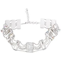 Christian Dior Crystal Choker with Logos