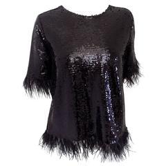 Black sequins shirt IVIVI