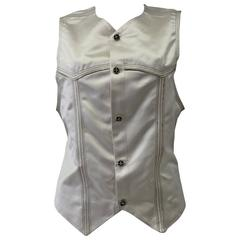 Very Rare Gianni Versace Silk Embroidered Evening Waistcoat Vest Fall 1992