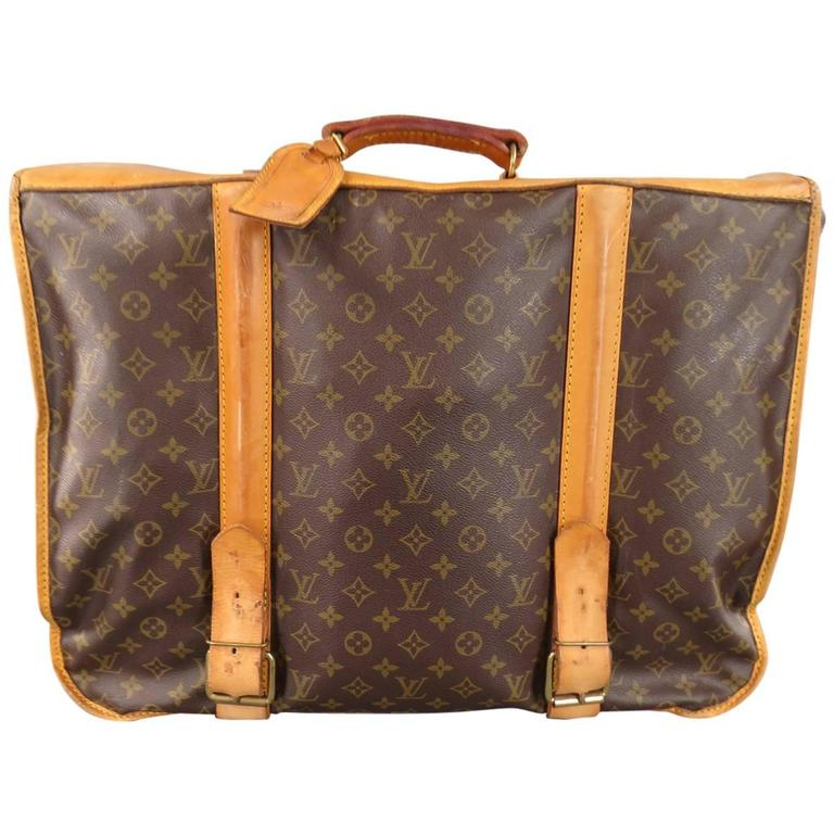 LOUIS VUITTON Brown Monogram Canvas PORTABLE HOMME Garment Travel Bag For  Sale 236d209f59744