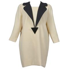 Pierre Cardin Couture Cream Wool Dress