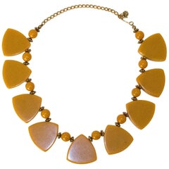 30s Butterscotch Bakelite Necklace