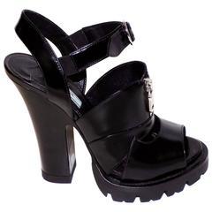 Prada Lug Sole Zip Sandal sz 39 new