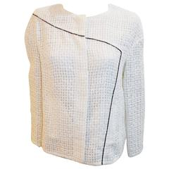 New with Tags Chanel white jacket collection 2012 spring sz 42