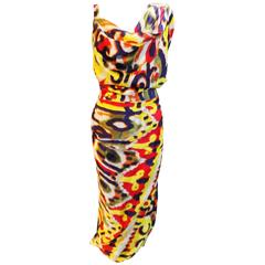 Vivienne Westwood Red Label multi color draped dress