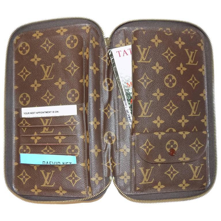 Rare Louis Vuitton Zip Passport Agenda Cover Portfolio