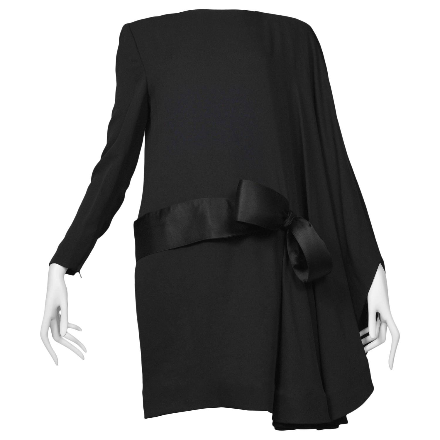 Dress Cabinets For Success: Pierre Cardin Couture Bow Drape Dress For Sale At 1stdibs
