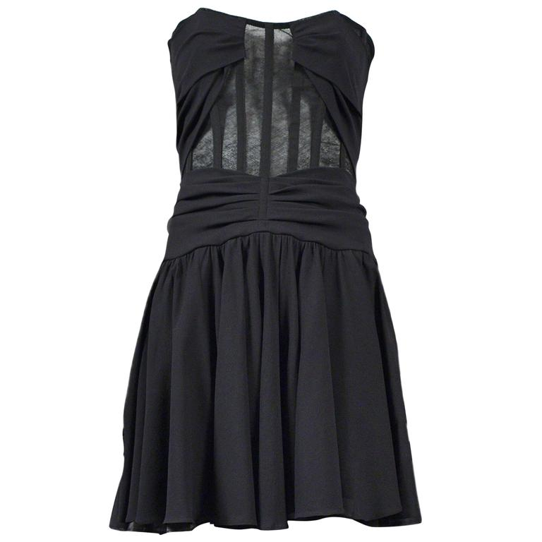 Dolce Black Mesh Corset Dress