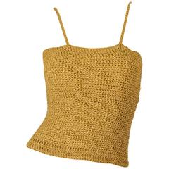 Vintage Gold Knit Metallic Crop Top
