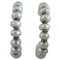 18kt Gold Pearls Earrings